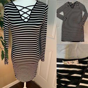 Heart Hips stripe dress size large